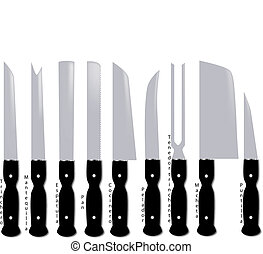 Kitchen knives - Types of kitchen knives with Spanish names...