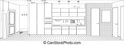 Kitchen line interior