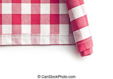 kitchen napkin on white background