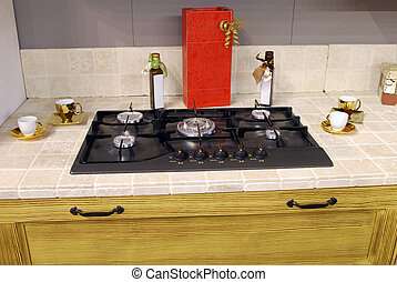 kitchen natural gas cooktop