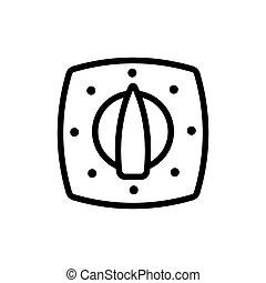 kitchen oven distribution panel icon vector outline illustration