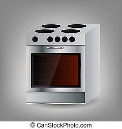 Kitchen Oven icon Vector illustration.
