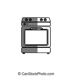 kitchen oven isolated icon