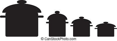 Kitchen pans