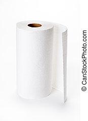 kitchen paper on white