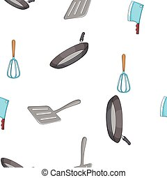 Kitchen pattern, cartoon style