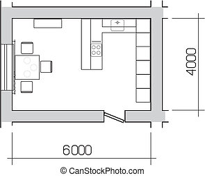Kitchen, plan