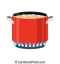 kitchen pot cooking soup