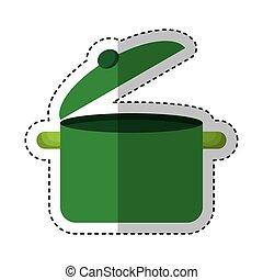 kitchen pot isolated icon