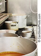 kitchen pots and pan