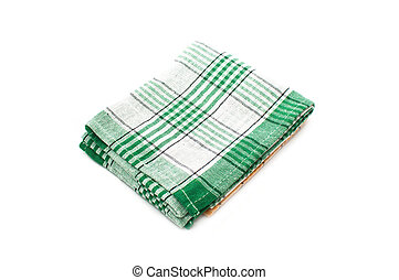 kitchen rag, a dish towel isolated on white background