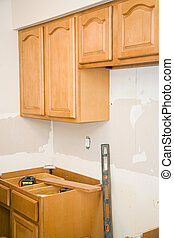 Kitchen Remodel - Cabinets - Kitchen remodeling in progress....