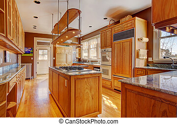 Kitchen room in luxury house