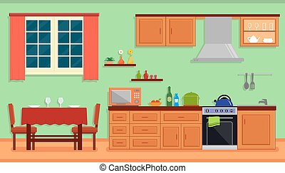 kitchen room interior for family home