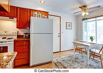 Kitchen room with a small dining area