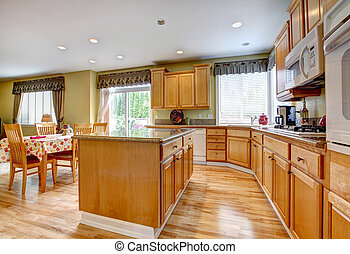 Kitchen room with dining area