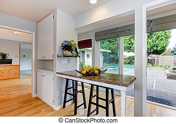 Kitchen room with walkout deck