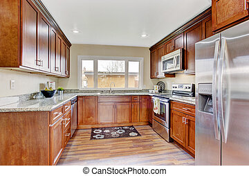 Kitchen room with window