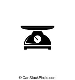 Kitchen Scale, Weight Measurement Tool. Flat Vector Icon ...