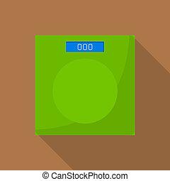 Kitchen scales icon, flat style