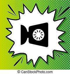 Kitchen scales sign. Black Icon on white popart Splash at ...