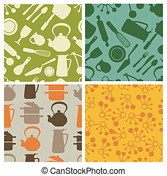 kitchen - seamless pattern