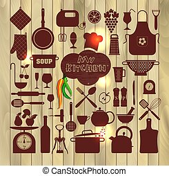Kitchen set icon