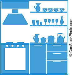 Kitchen silhouette