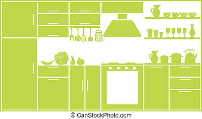 Kitchen silhouette