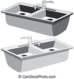 Kitchen Sink - An image of a kitchen sink.