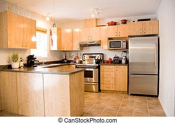 Kitchen - modern day kitchen with stainless steel appliances