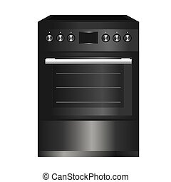 Kitchen stove. Home appliances isolated on a white background. Vector graphics.