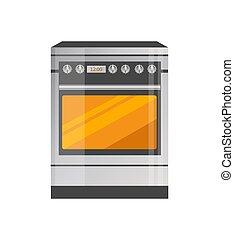 Kitchen Stove of High Quality in Metallic Corpus - Kitchen...