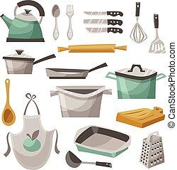 Kitchen Stuff Icons Set
