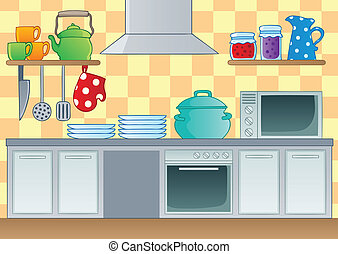Kitchen theme image 1 - vector illustration.