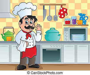 Kitchen theme image 2 - vector illustration.