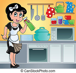 Kitchen theme image 7 - vector illustration.