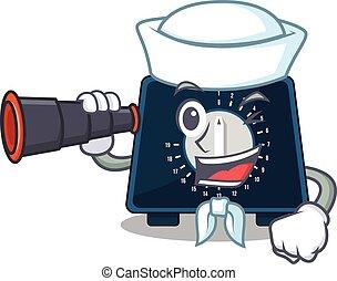 Kitchen Timer 71 - A cartoon picture of kitchen timer Sailor...