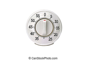 Kitchen timer isolated