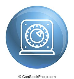 Kitchen timer start icon, outline style