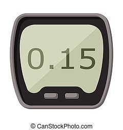 Kitchen timer vector cartoon icon. Vector illustration oven stopwatch on white background. Isolated cartoon illustration icon kitchen timer.