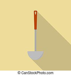 Kitchen tool icon, flat style