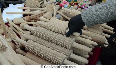 kitchen tool market hand - hand made wooden kitchen utensil...