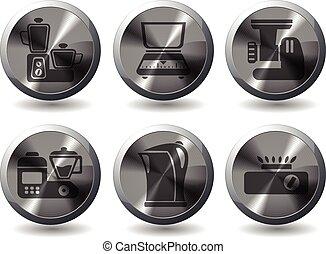 kitchen tools icons set