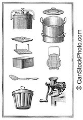 Kitchen tools of the past: pans for every recipe, egg whisk...