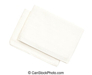kitchen towels isolated on a white background