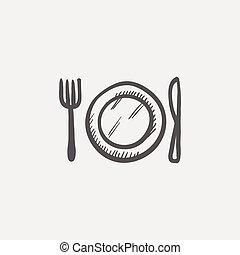 Kitchen utensil sketchicon