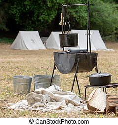Civil War Camp The Camp Of Union Soldiers At A Civil War