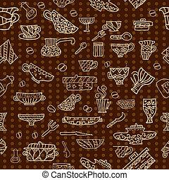 kitchen utensils background seamless