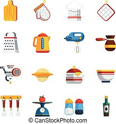 Kitchen Utensils Icons Set